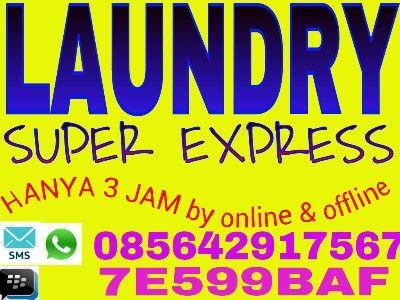 Laundry delivery semarang 085642917567 kami laundry express menawarkan jasa pencucian pakaian dg cepat,bersih,rapi,wangi,dan higienes karena tidak campur dg pakaian orang lain alias satu order di cuci sendiri2.melayani delivery dg tarif sbb:reguler 3hr 3500/kgOne day 1hr 5000/kgexpress 6jam 6000/kgpaket VIP 3 jam 8500/kg.hanya jika ditempat kami sedang mengalami over load/orderan penuh,waktu mungkin mundursedikit dari prakiraan.harga belum ongkir tergantung jarak.dan kita hanya melayani dlm…