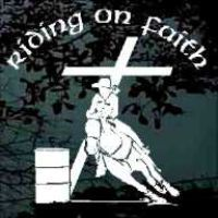 Barrel racer riding on faith decals stickers