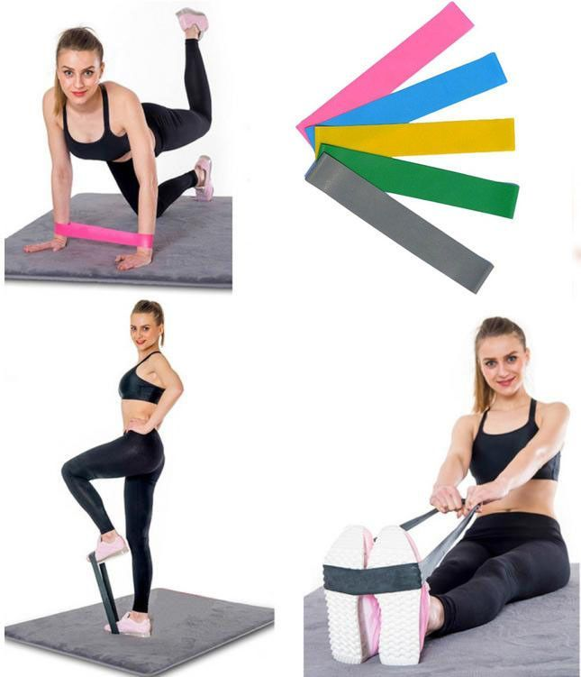 Resistance Band Loop Yoga Pilates Home GYM Fitness Leg Exercise Workout Training