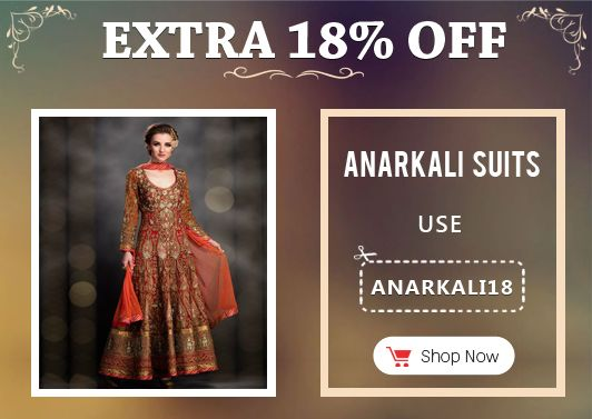 Get Extra 18% off on Anarkali Suits, Use Coupon ANARKALI18