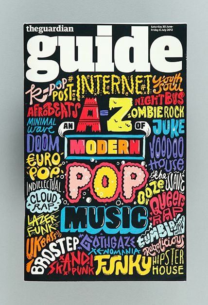 Kate Moross the guardian guide cover graffiti style