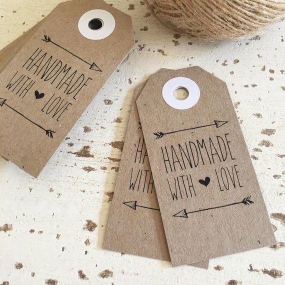 Our Handmade with Love Tags are ideal for presenting with handmade favours such as jams, granola, poppycock etc! They are also perfect for packaging your hand made goods ready for market stalls! Printed on our signature recycled card stock making them perfect for rustic themed occasions.  NOTES: * Kraft Brown tags are made with 230gsm recycled paper. * Each tag measures 3.5cm in width and 7cm in height. Tags are hand cut therefore very slight variations in sizing may occur. * Tags are priced…