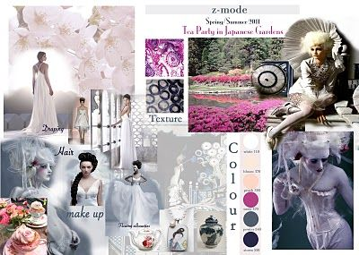 Moodboard Japanese Tea Garden Theme With Very Pretty Colours Inspiration Collage Pinterest