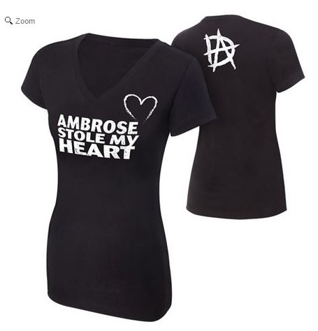 This Dean Ambrose T-Shirt is SO TRUE... he stole my heart and this is the ONLY robbery I'll accept<3<3