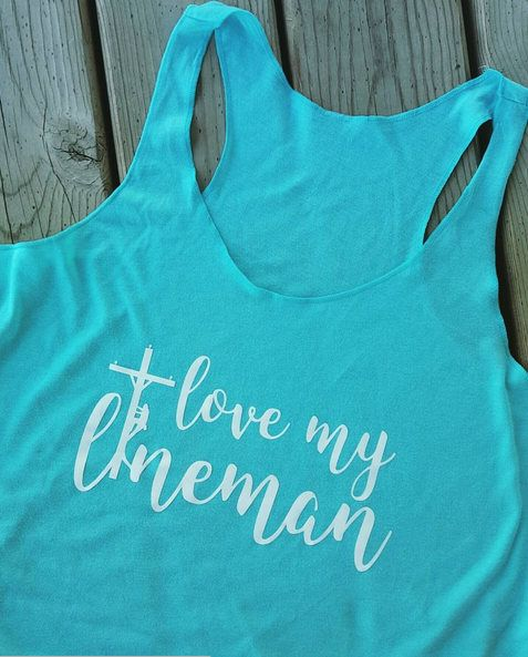 Check out this item in my Etsy shop https://www.etsy.com/listing/541300885/lineman-shirt-love-my-lineman-shirt