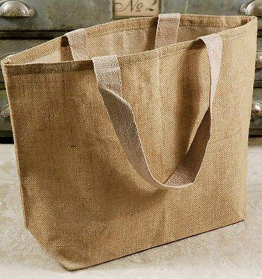 Burlap Tote Beach Shopping Bag Eco Friendly