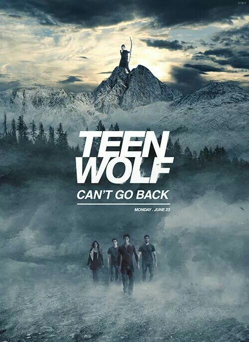 Teen Wolf ~ Can't Go Back - Scott, Stiles, Lydia and Derek - Love how they have Allison up top :) Season 4