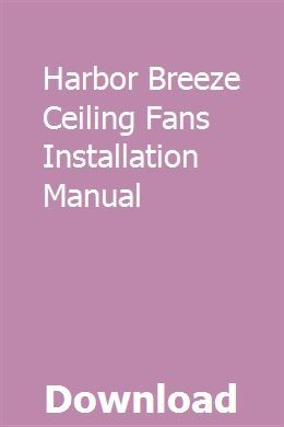Harbor Breeze Manual Pdf | Wiring Diagram Echo on