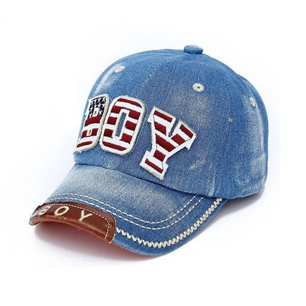 New Spring Summer Kids Fashion Caps Children Boys Girls Casual Cotton Letter Baseball Caps Adjustable Hip Hop Snapback Sun Caps