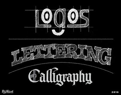 Logos / Lettering / Calligraphy / 2016