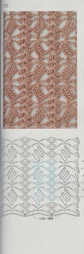 This is a lovely stitch but I think it will also make a good exercise for pattern reading.