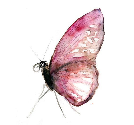Hey, I found this really awesome Etsy listing at https://www.etsy.com/listing/198215345/watercolor-painting-of-a-pink-butterfly