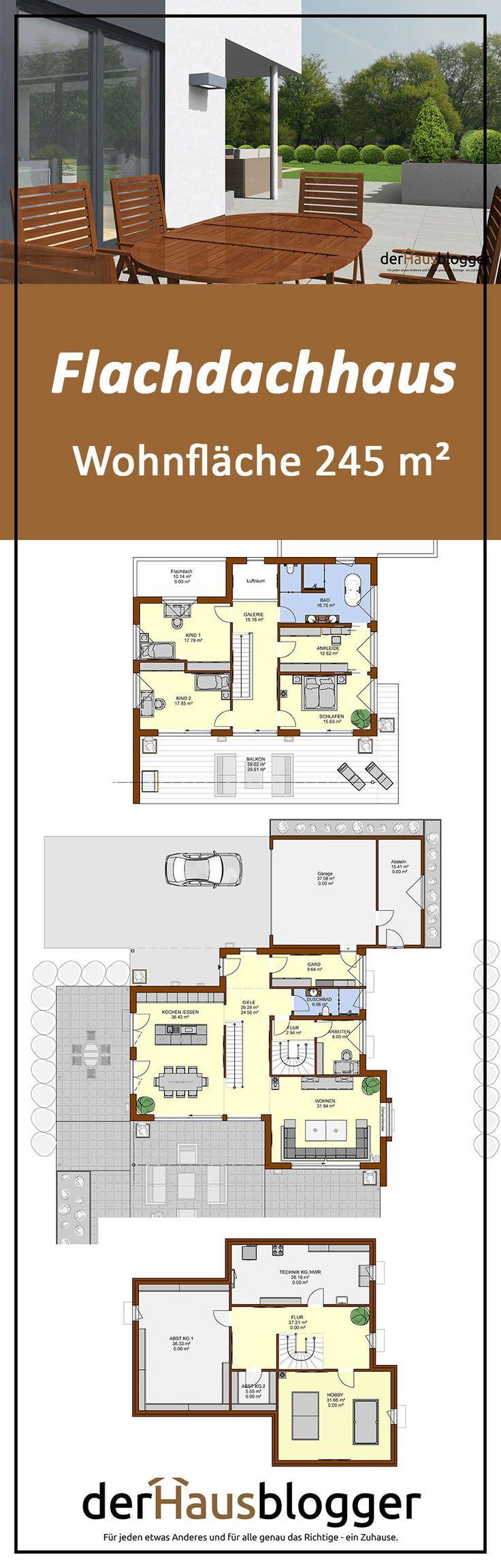 Flachdachhaus 245m² Flachdachhaus, Haus, Grundriss