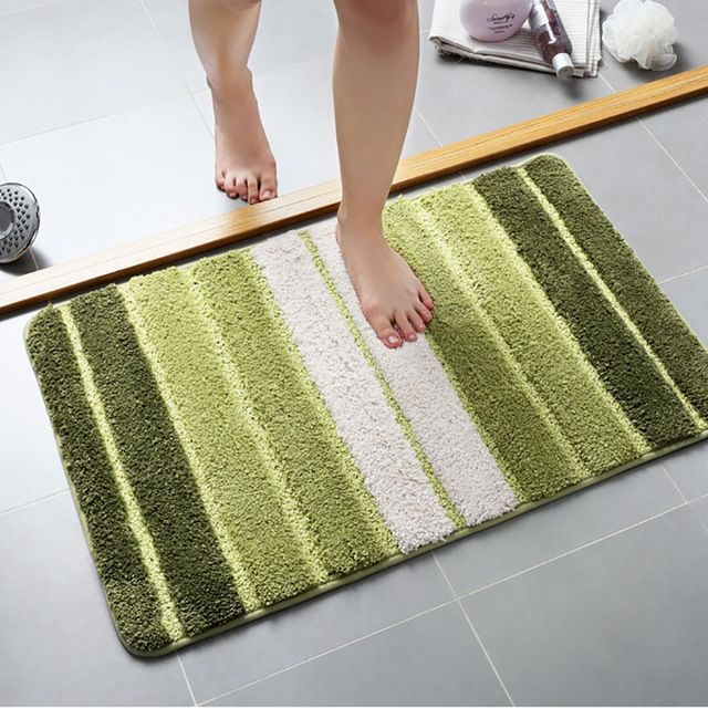 Bath Mat Polyster Bathroom Carpet Anti Slip Mat For Bathroom Ultra Soft Mat In The Toilet Absorbent Carpet Bathroom Rug Review Desenler Paspas