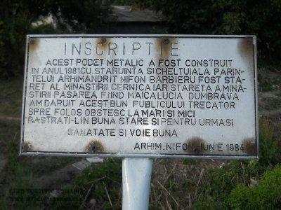 Inscriptie pod Manastirea Pasarea
