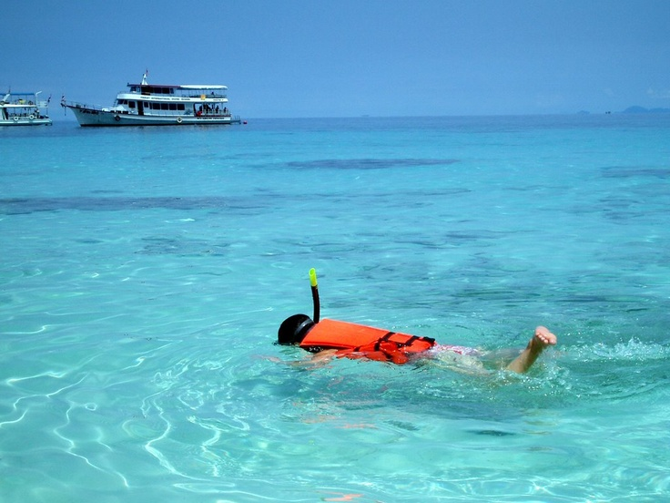 Snorkelling in the crystal-clear waters of Costa Teguise in Lanzarote