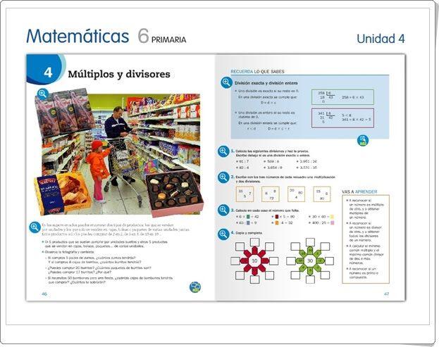"""Unidad 4 de Matemáticas de 6º de Primaria: """"Divisibilidad"""""""