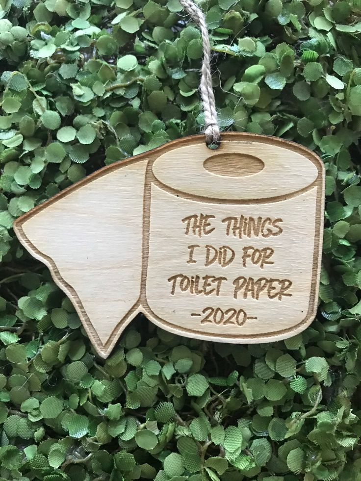 Toilet Paper Tag/Ornament/Car Charm The things I did for
