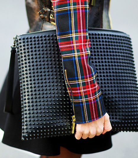 Plaid and Rock Studs