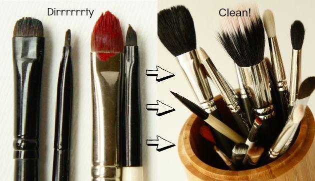 How-to: make-up kwasten reinigen
