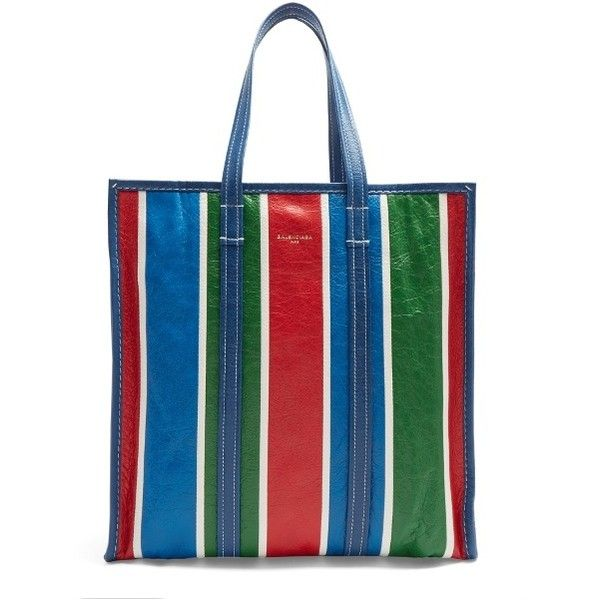 Balenciaga Bazar shopper M (£1,045) ❤ liked on Polyvore featuring bags, handbags, tote bags, red stripe, red purse, red tote handbag, red tote, striped tote and tote purses