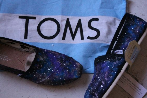 Galaxy Outer Space Toms Shoes by InfiniteInspiration on Etsy, $65.00
