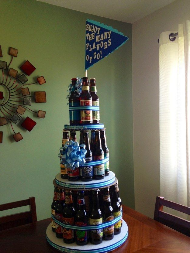 Make a craft beer cake.  I never ever ever ever ever ever want a diaper cake. @Shelli Moore Cambronero Duncan
