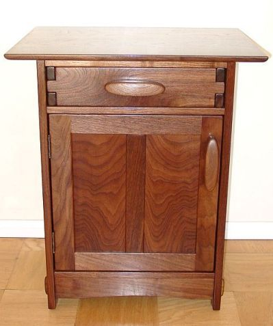 Mission style nightstand plans woodworking projects plans for Nightstand plans