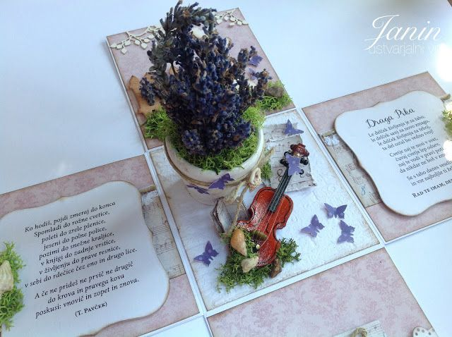 Exploding Box with Lavender and Violin