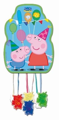 Party Time Celebrations  - Peppa Pig Party Pinata Medium, $22.95 (http://www.partytimecelebrations.com.au/peppa-pig-party-pinata-medium/)