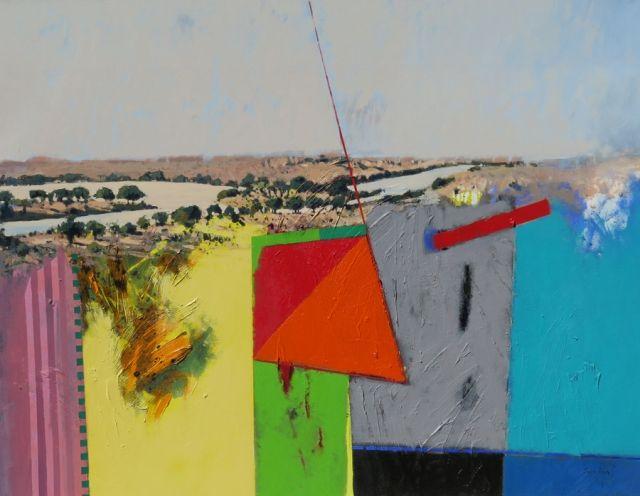 Jaco Roux - Shashe Limpopo Confluence - Oil on canvas - 130 x 170 cm