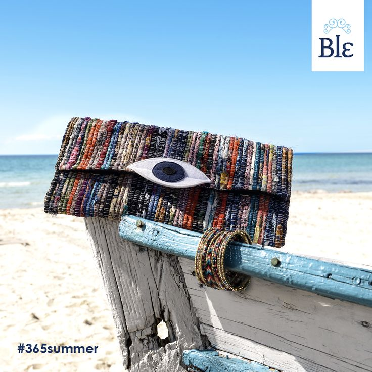 Eye love this bag! The latest clutch from Ble's new collection is fashionable, super cute and… keeps us safe from the evil eye! Get it here http://www.ble-shop.com/bags.html