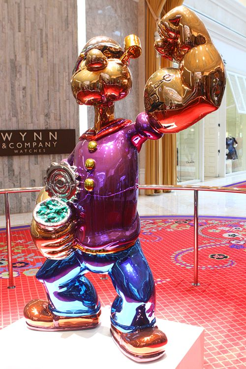 $28.2 million Popeye statue at Wynn Las Vegas.