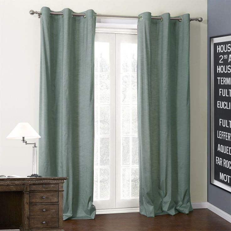 Solid Pollia Coating Thermal Curtain   #curtains #decor #homedecor #homeinterior #green