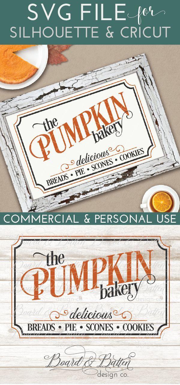 Vintage Pumpkin Bakery Sign SVG File Bakery sign