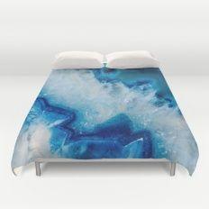 Royally Blue Agate Duvet Cover #agate #quartz #rocks #minerals #crystals #prettystuff #hygge