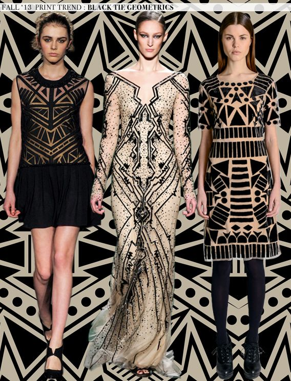 Fall 2013 -2014 Trends | Fall 2013 Runway Trends: Black Tie Geometrics | Aaryn West – Surface ...