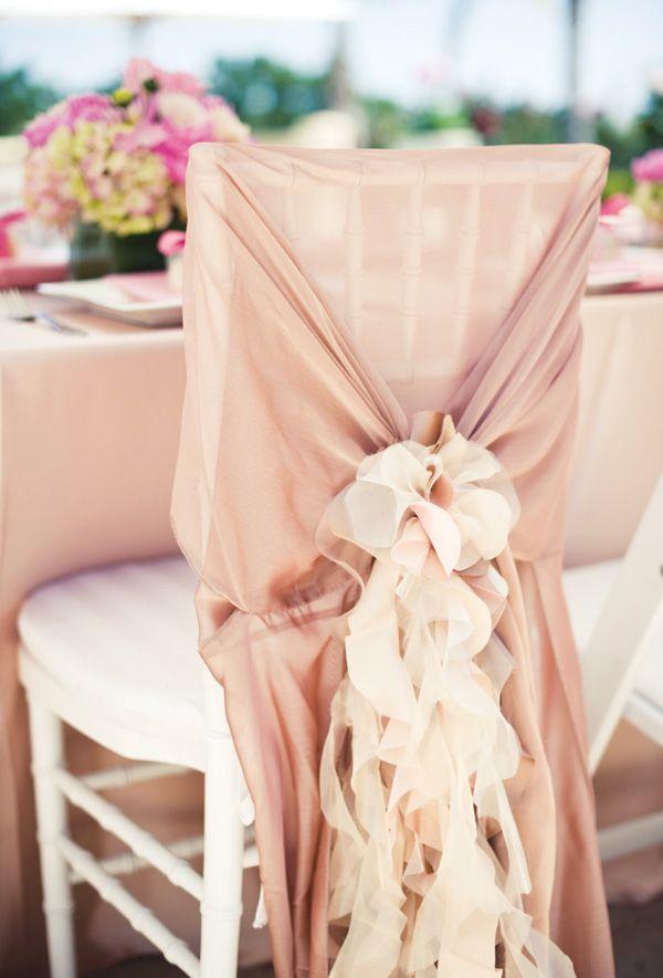 {Backyard Blush} Pink Bridal Shower Chair Back | #soft #pretty #wedding #bridal