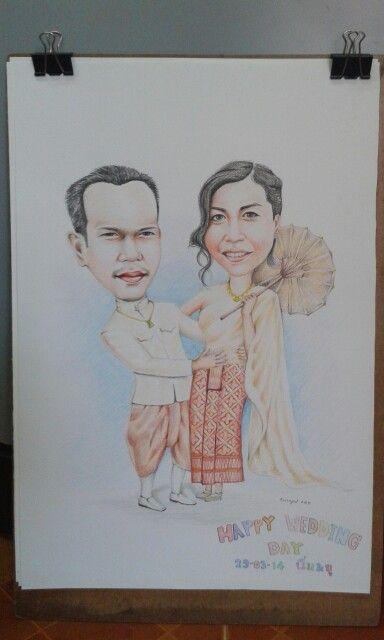 Cartoon wedding2_my job