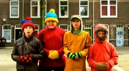Stan, Cartman, Kyle and Kenny from South Park