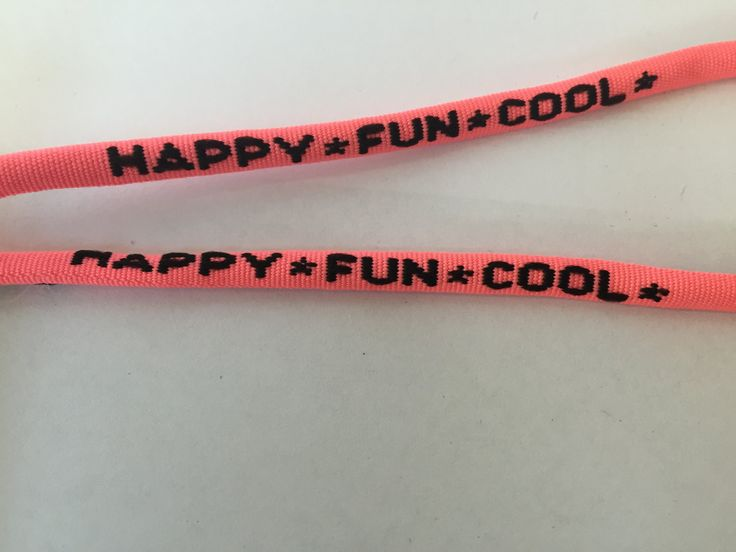 Happy Fun Cool Printed Shoelace, 50 inches long, by NoaElastics on Etsy
