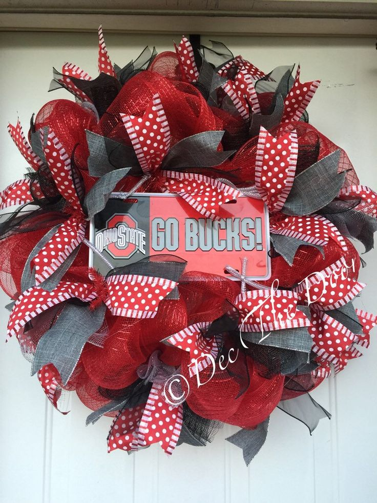A personal favorite from my Etsy shop https://www.etsy.com/listing/251687055/ohio-state-wreath-deco-mesh-wreath-go