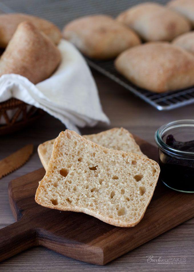 Whole Wheat Torta Rolls - A copycat whole wheat version of the popular Torta Sandwich rolls sold at Costco.