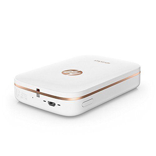 HP Sprocket Portable Photo Printer, print social media photos on 2x3 sticky-backed paper - white (X7N07A)