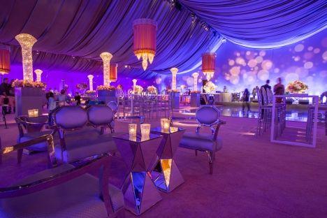 Dinner tent at San Francisco Symphony Gala 2014. Lighting Design by Got Light.