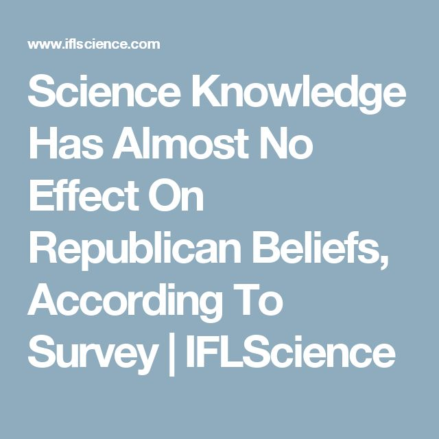 Science Knowledge Has Almost No Effect On Republican Beliefs, According To Survey | IFLScience