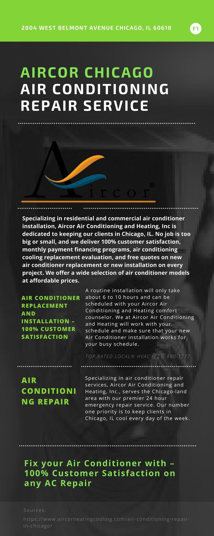 Aircor chicago air conditioning repaair services wants you to enjoy the comfort and peace of mind