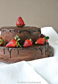 Kuchenne Łasuchowanie: Tort czekoladowy z frużeliną truskawkową