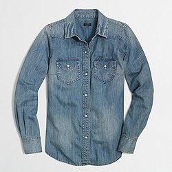 Factory two-pocket denim shirt