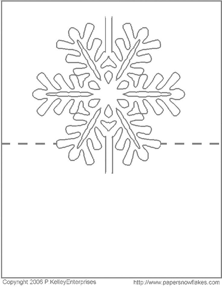 Новогодняя снежинка открытка схема, дню